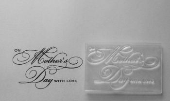 On Mother's Day with love, swirly stamp