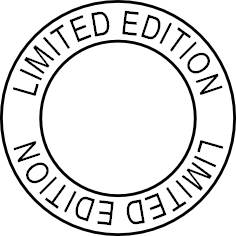 Limited Edition, custom circle stamp