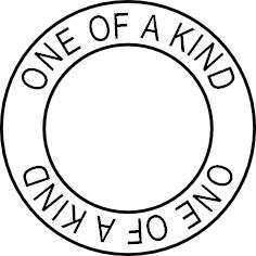 One of a Kind, custom circle stamp