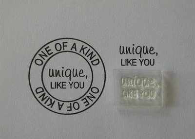 Unique, like You, Little Words stamp