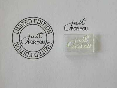 Just for You, Little Words stamp