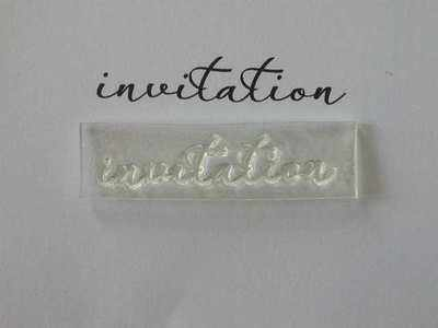 Invitation, script stamp