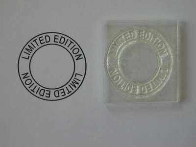 Limited Edition, circle stamp