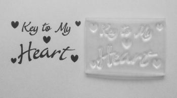 Key to my Heart, clear stamp