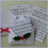 Christmas Carol Music Sheets, mini envelopes download