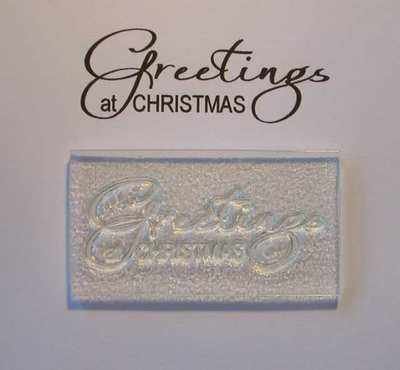 Greetings at Christmas, script stamp