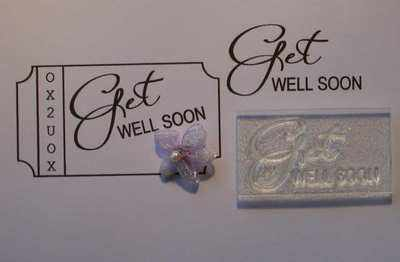 Get Well Soon, sentiment stamp