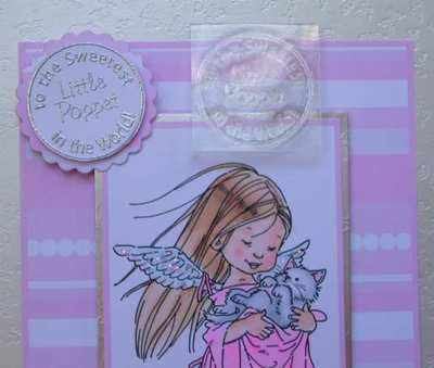 Sweetest Little Poppet, circle stamp