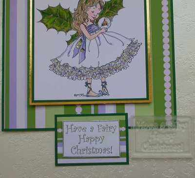 Framed text stamp, Have a Fairy Happy Christmas!