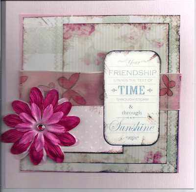 Pink Friendship Birthday Card