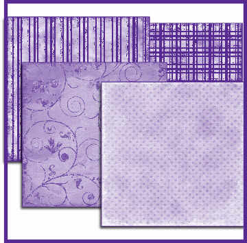 Shabby purple layering papers