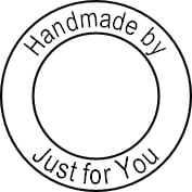 Custom stamp, Handmade by, Just for You