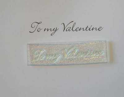 To my Valentine, stamp