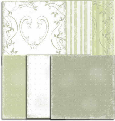 Shabby Papers, soft green, download