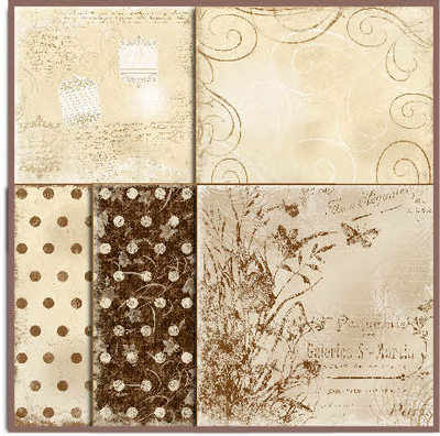 Shabby Paper pack, Brown and Beige