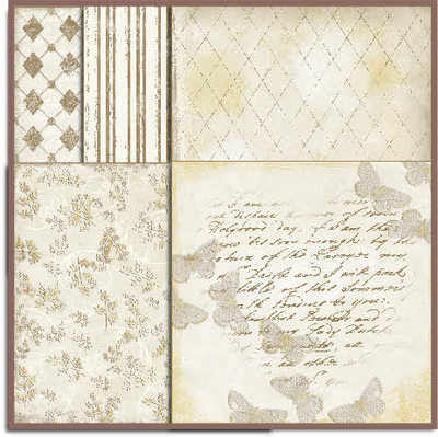 Shabby Paper pack, Cream