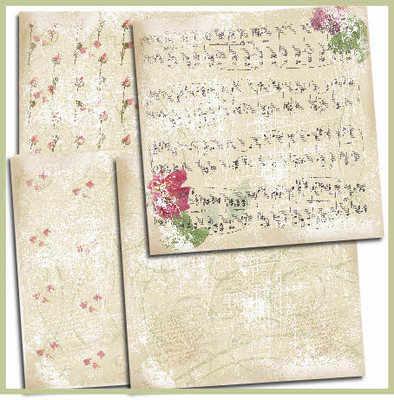 Shabby Paper pack, Roses