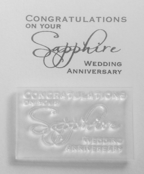 Congratulations on your Sapphire Anniversary, stamp