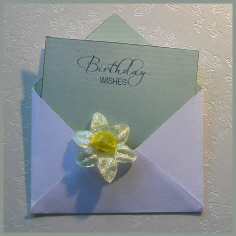 birthday note & envelope download