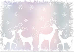 Reindeer A5 card download