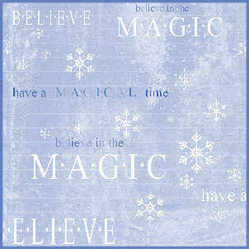 Believe Christmas paper sample
