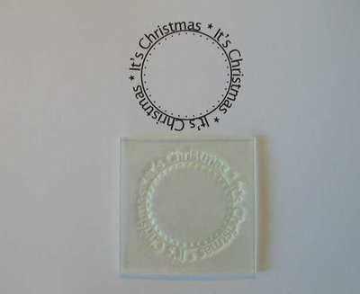 It's Christmas, circle stamp