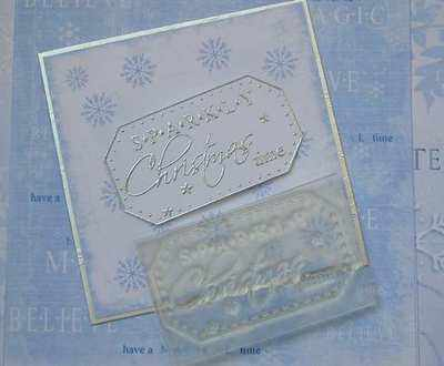 Sparkly Christmas Time, label stamp