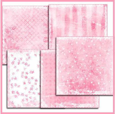 Shabby Pink digi paper pack
