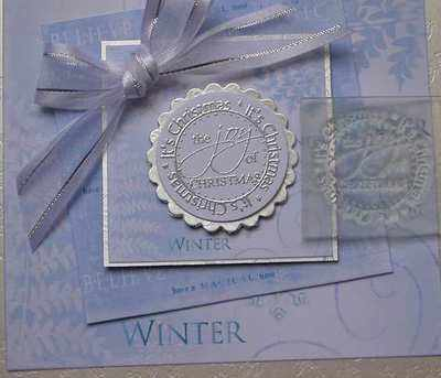 The Joy of Christmas, circle stamp
