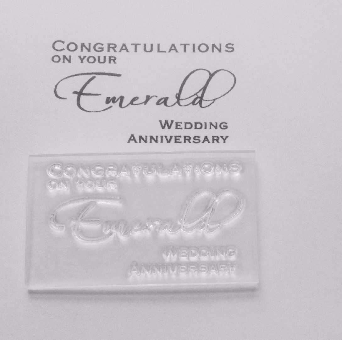 Congratulations on your Emerald Anniversary, stamp