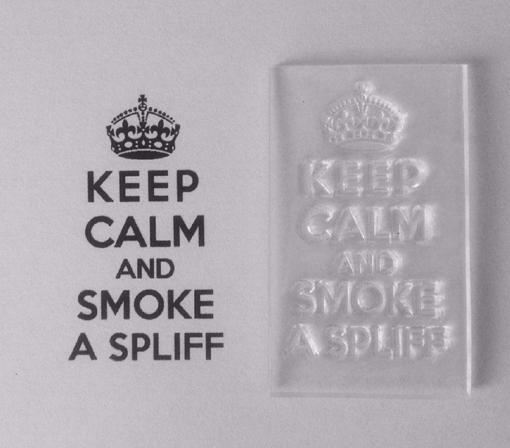Keep Calm and Smoke a Spliff stamp