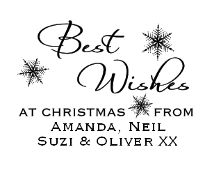 Best Wishes Christmas custom stamp