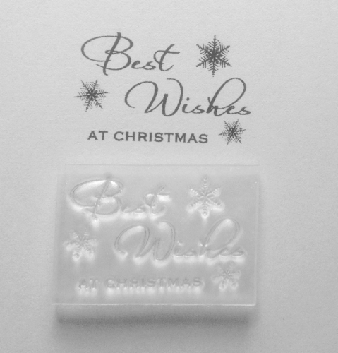 Best Wishes Christmas snowflake stamp