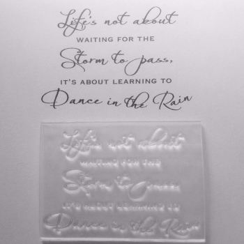 Dance in the Rain, verse stamp