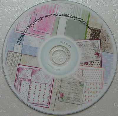 10 Packs of Shabby paper on CD