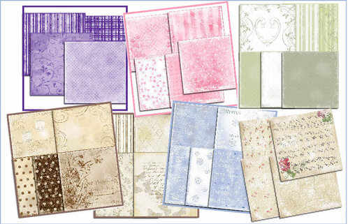 Shabby paper packs