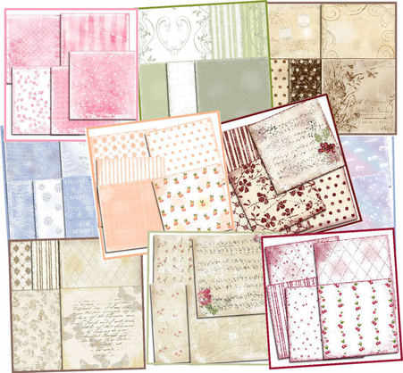 craft CD, shabby backing papers