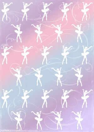 ballerina, ballet paper