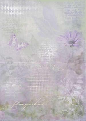 lilac floral paper