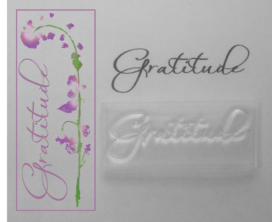 Gratitude, clear sentiment stamp