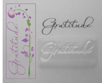 Gratitude, clear sentiment stamp