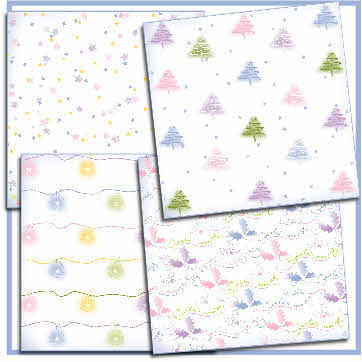 Pastels Christmas backing papers