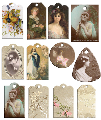 Vintage tags free download