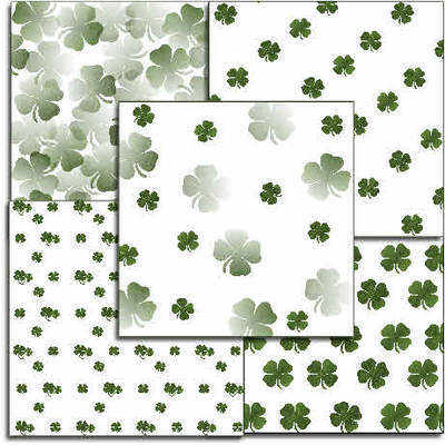 St Patricks, Irish, Good Luck, Clover papers