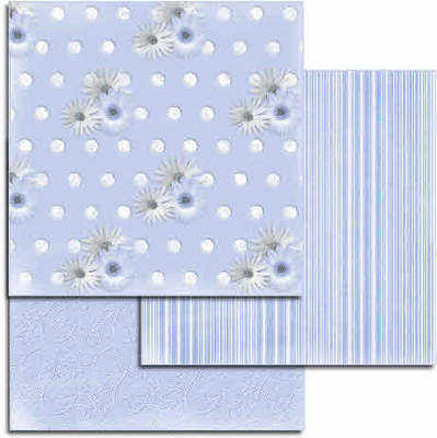 Blue embossed papers