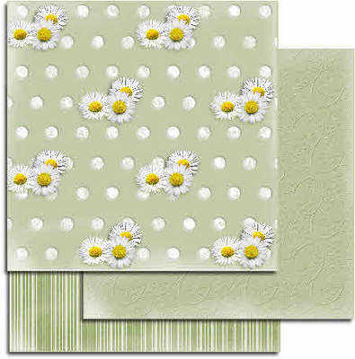 Green embossed papers