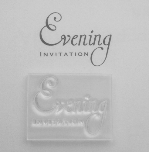 Evening Invitation, 2 line stamp