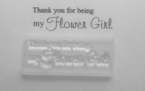 Thank you for being my Flower Girl, stamp