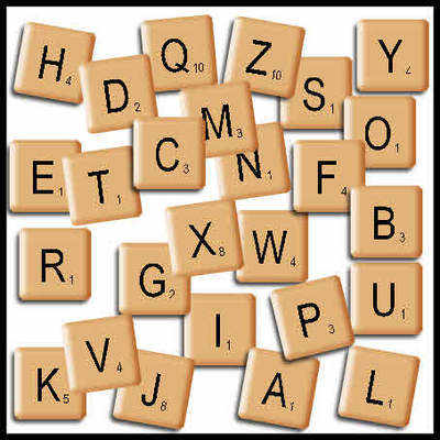 Scrabble tiles, individual pngs