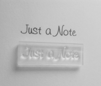 Just a Note stamp
